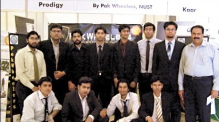 The team members of Pak-Wheelers during Shell Eco Marathon 2010's media launch event.