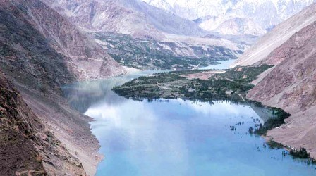 The Attabad lake can be seen in this photo taken on Tuesday. PHOTO: APP