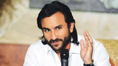 Saif Ali Khan hyped up his next film, Agent Vinod, but Bollywood is facing tough financial times. (AFP)