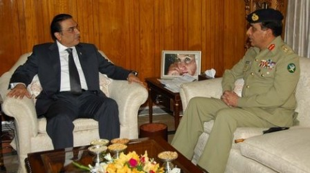 Army Chief General Ashfaq Pervez Kayani briefed President Zardari about the security situation.
