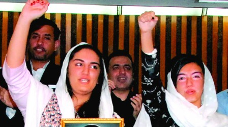 Bakhtawar Bhutto Zardari's last rap song, 'I Would Take the Pain Away' was a tribute to her mother. PHOTO: EPA