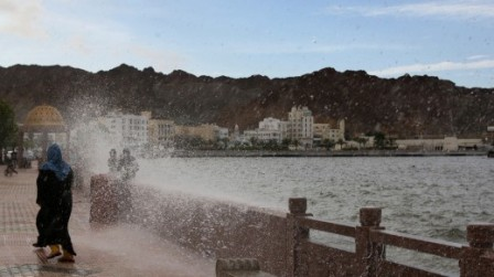 High waves in Muscat before Cyclone Phet hit Oman. PHOTO: AFP