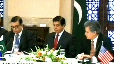 Water and Power Minister Raja Pervaiz Ashraf during the meeting.