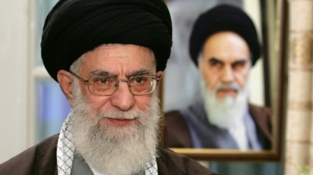 Ayatollah Ali Khamenei blamed the USA and UK for the bombings at the mosque last week. PHOTO: AFP