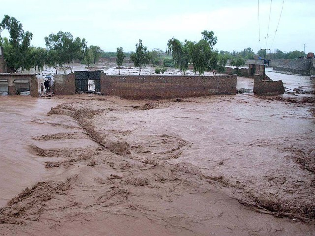 Flash floods have caused severe damage all over the country. PHOTO: APP