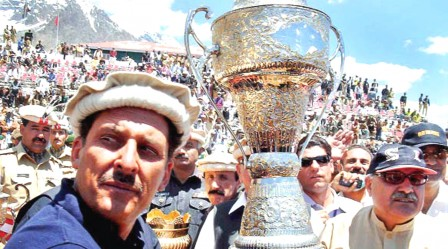 The polo festival ended on Friday with the team of Shandur lifting the trophy. PHOTO: APP