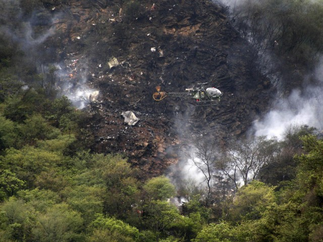 The site of the Airblue plane crash on July 28, 2010. PHOTO: REUTERS