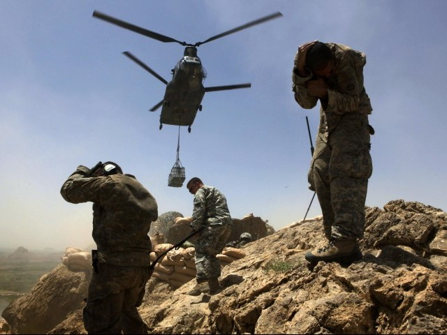 There are currently more than 140,000 US and NATO-led troops in Afghanistan. PHOTO: REUTERS