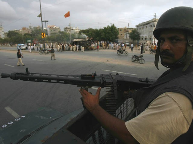 Security forces have been put on red alert due to violence in the city. PHOTO:ATHAR KHAN