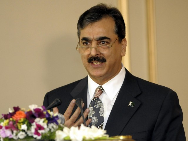 File photo of Prime Minister Syed Yousaf Raza Gilani. PHOTO:EPA