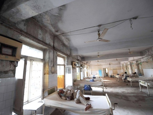 The district headquarters hospital in Nowshera is again providing treatment to people returning home. PHOTO: AFP