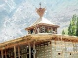 The Khanqah's double roof structure with a Tibetan tower is a characteristic feature of Baltistan. Photo: Express/File