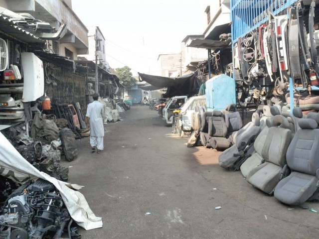 The Shershah market remained closed for two days after the horrific attack on Tuesday. PHOTO: EXPRESS