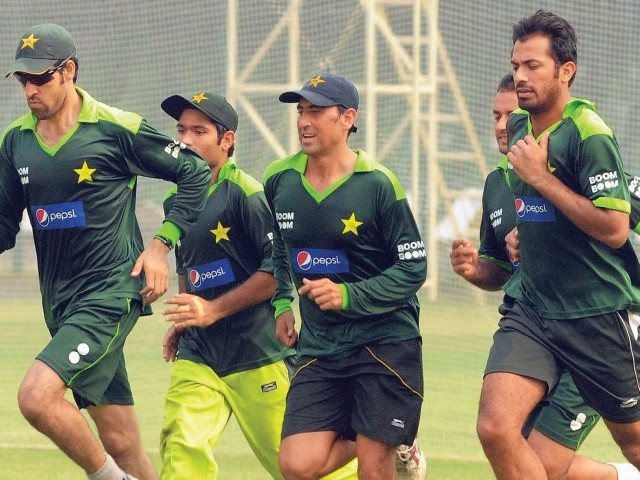 Pakistan squad arrived in the UAE with their minds fully focussed on the job at hand while the Pakistan Cricket Board deals with matters relating to the International Cricket Council away from the field. Photo: FILE AFP