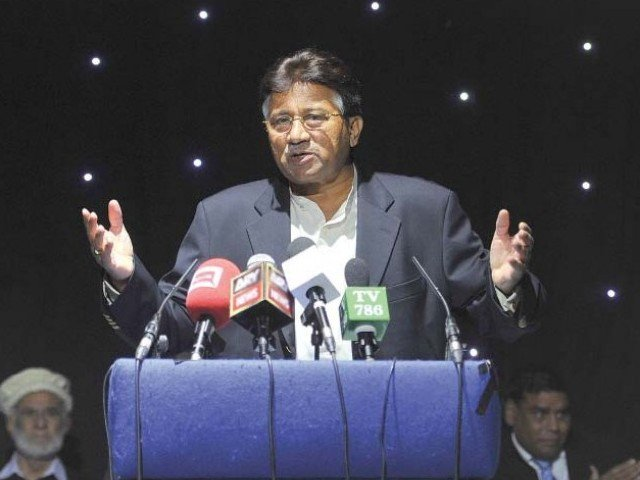 Former president Pervez Musharraf warns opponents of jaw-breaking response in Birmingham. PHOTO: REUTERS