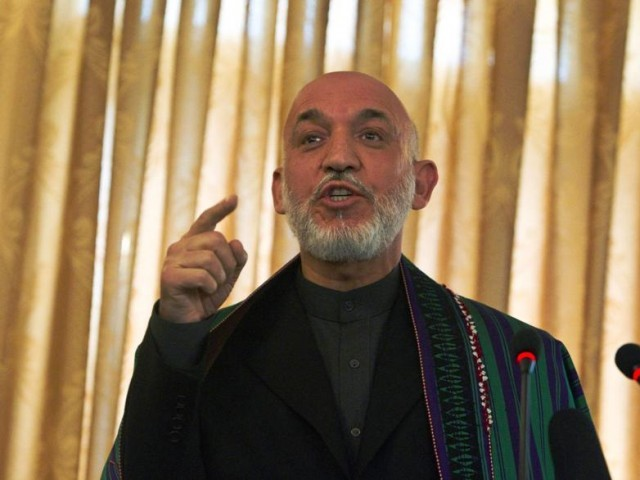 Afghan President Hamid Karzai speaks during a news conference in Kabul October 25, 2010. PHOTO: REUTERS