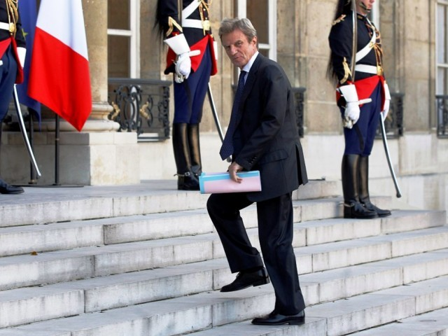 France's Foreign Minister Kouchner arrives at the Elysee Palace in Paris. PHOTO: REUTERS