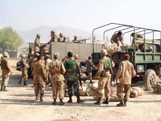 Division 37 of Pakistan Army will go back to the headquarters from Swat. photo: file