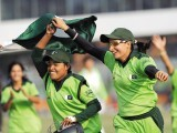 Pakistan women's cricket team, targetted for its inability to matches or tournaments, has finally managed to silence its critics under captain Sana Mir (R) following the Asian Games glory. PHOTO: AFP