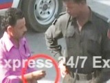 The Express team caught a number of policemen on tape as they took money from commuters on Sharae Faisal