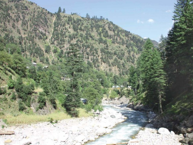 Neelum Valley was badly hit in the 2005 earthquake and suffered heavily by the 2010 flood. photo: express
