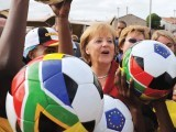 In Germany, Chancellor Angela Merkel has used football to show a tolerant country
