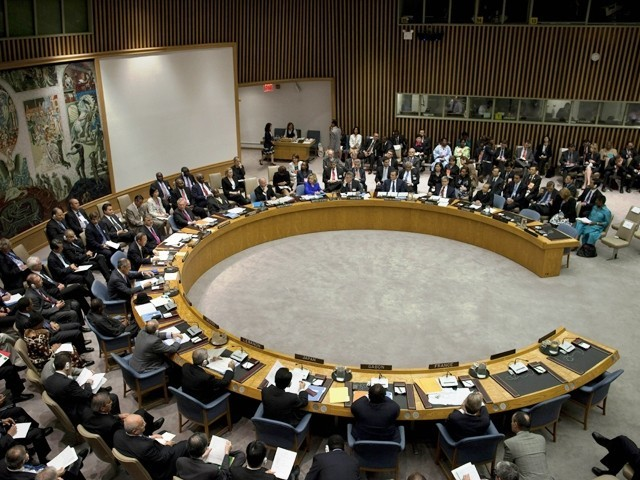 The five permanent members on the UNSC with veto power are Britain, China, France, Russia and the United States. PHOTO: AFP