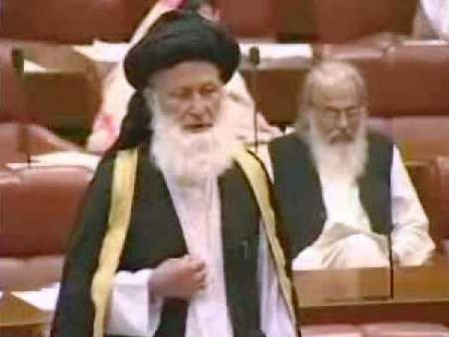 Maulana Sherani in the National Assembly. PHOTO: FILE