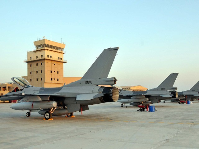 Pakistan was supposed to receive 18 F-16s in total. PHOTO: PPI