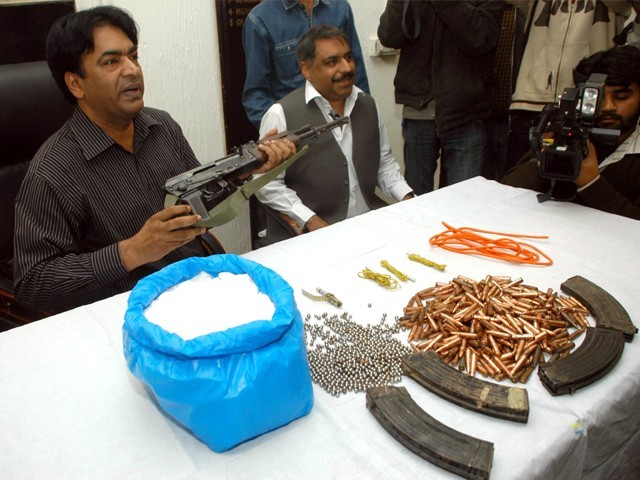 The CID seized a huge cache of ammunition.