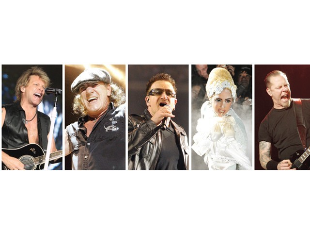 The top live performers for the year are known to have one of the largest fan following worldwide. PHOTO: FILE