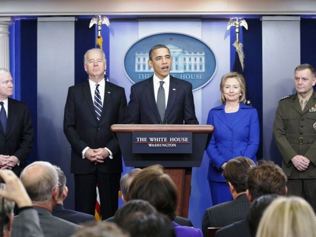 U.S. President Barack Obama delivers a statement on the Afghanistan-Pakistan Annual Review from the White House Briefing Room in Washington December 16, 2010. PHOTOL REUTERS
