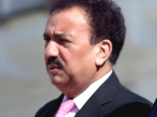 Petitioner seeks removal of Interior Minister Rehman Malik as senator. PHOTO: EPA