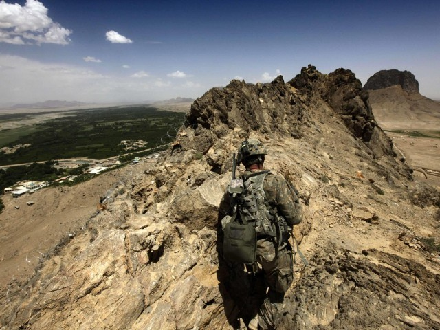 File photo of a US army soldier in Afghanistan. PHOTO: REUTERS
