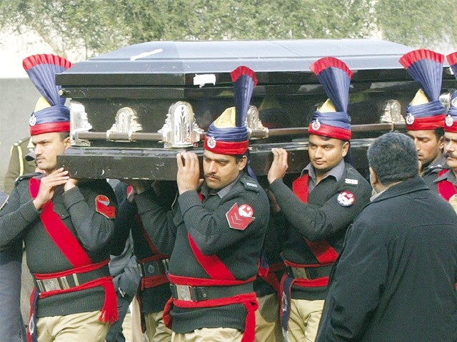 Slain governor Salmaan Taseer received a state funeral in Lahore. PHOTO: EXPRESS