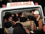 The body of the governor of Punjab province Salmaan Taseer is carried out of a hospital after he was shot dead in Islamabad January 4, 2011. PHOTO: AFP