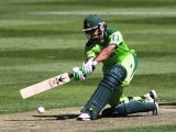 Mohammad Hafeez's maiden ODI century set up Pakistan's score of 293. PHOTO: AFP