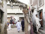 Lyari residents are known as Pakistan Peoples Party loyalists but the neighbourhood's roads and sewage have been long ignored. PHOTOS: ATHAR KHAN/EXPRESS