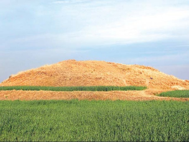Remains of a Buddhist site in Sector G-12 of Islamabad. PHOTO: ZULFIQAR ALI KALHORO