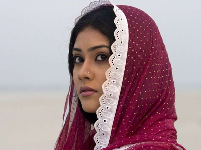 Bangladeshi actress Shaina Amin acts in a scene of Bengali film 'Meherjaan' in Tangail District of Dhaka. PHOTO: AFP