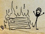 yours-extremely-flag-burning