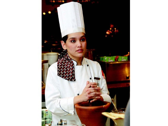 Small town girl cooks up a storm with her culinary expertise. PHOTO: THE EXPRESS TRIBUNE