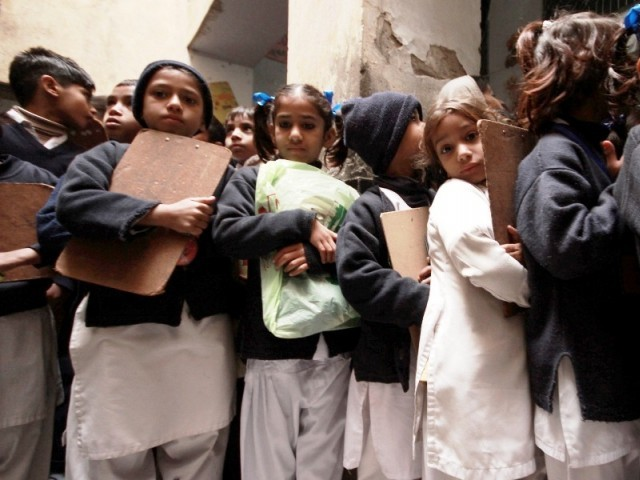 Pakistan is suffering an education emergency, with at least 25 million children denied their constitutional right to an education. PHOTO: FAYYAZ AHMED/EDUCATIONEMERGENCY.COM.PK