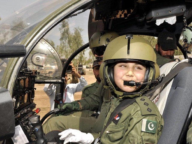 It was like a dream come true for 12-year old Naima Gul, resident of Mingora, Swat, when she became the first female pilot of the Pakistan Army Aviation.