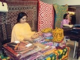 A three day exhibition of traditional handicrafts opened on March 25 at The Forum in Karachi. PHOTOS: NUSRAT GHUMRO