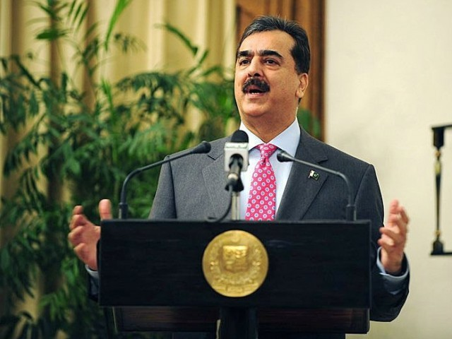 Gilani accepted an invitation from his Indian counterpart Manmohan Singh to attend the match.  PHOTO: AFP/FILE