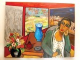 Tabinda Chinoy's paintings are life-like and create a sense of harmony. PHOTOS: ZARA KHAN