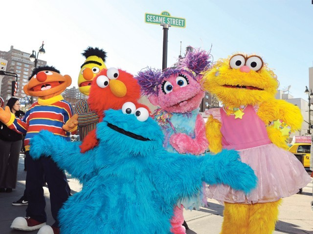 "The Pakistani version of ""Sesame Street"" will be set around a rural street cafe. PHOTO: AFP"