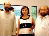 Tabinda Chinoy with guests. PHOTO: ZARA KHAN
