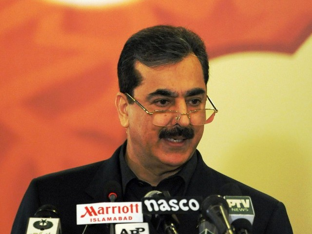 Prime Minister Yousaf Raza Gilani on Wednesday said that the Inter-Services Intelligence (ISI) and other government institutions were working with the government's consent. PHOTO: AFP/FILE